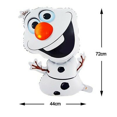 OLAF Snowman  Frozen Theme birthday party 18``foil Air or Helium Fill balloon UK