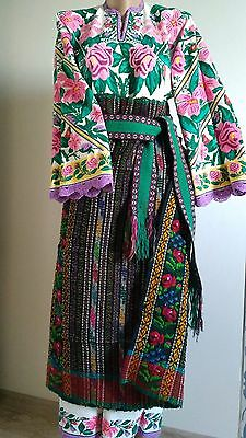 Ukrainian vintage embroidered suit(or dress), S-M, handiwork, Ukraine
