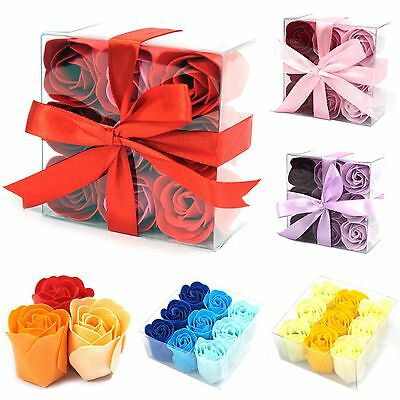 Luxury Soap Flowers - 9 In A Gift Box - Roses Soaps Set Scented