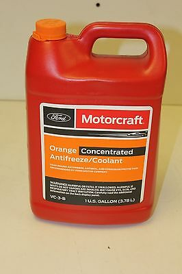 MotorCraft VC-3-B OEM 1 Gallon Orange Concentrated Antifreeze/Coolant New