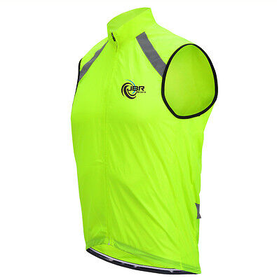 Full Zip High Visibility Reflective Cycling Gilet Vest Top Hi Viz