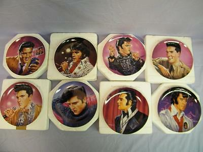 "8 Elvis Presley Plates,"" Commemorating The King ""  Delphi by Mark Stutzman"