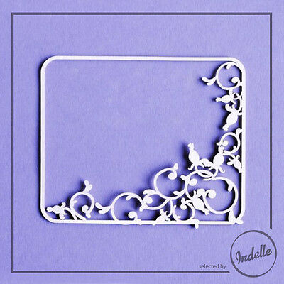 Wild Rose Frame Chipboard Shape Card Making Ornament Papercraft Scrapbooking