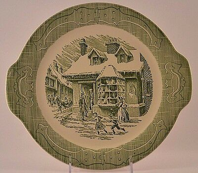 "Vintage Old Curiosity Shop 11.5"" Serving Platter with Handles"