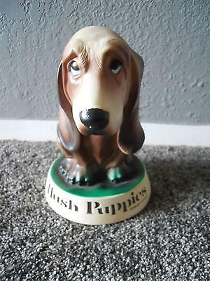 Vintage Hush Puppies Brand Shoes Plastic Puppy Bank