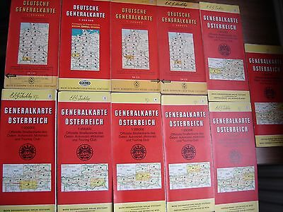 Job lot of 43 Vintage European Maps and Spain and Portugal Touring Guide 1959