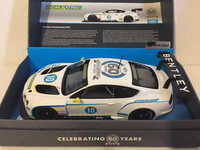 Scalextric C3831A Bentley Continental GT3 60th Anniversary Limited Edition