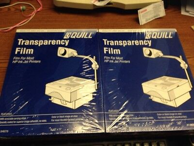 100 Quill Transparency Film New for most HP Ink Jet Printers #7-20336