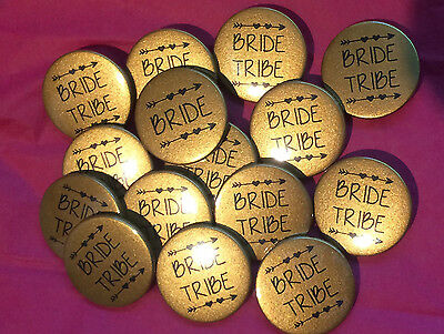 10x Hen Party Badges 38mm Hen do badges / Hen Night / bride tribe team bride