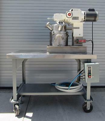Ross Double Planetary Mixer HDM2 2 gal jacketed bowl w/ vacuum cover & 1hp motor