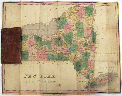1826 Finley Pocket Map of New York