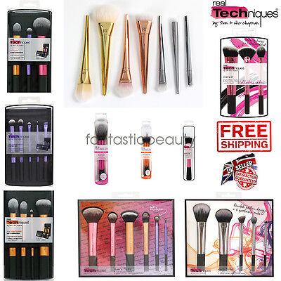 Real Techniques Makeup Brush Travel Essentials Starter Kit Brush Core Collection