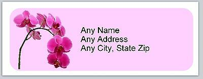 30 Personalized Address Labels Flowers Orchid Buy 3 get 1 free (ac728)