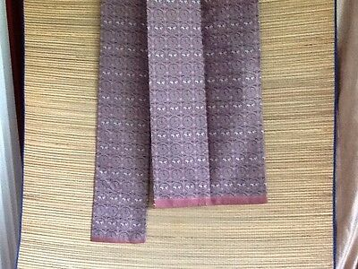 Beautiful Vintage Obi Tie Pink And Green