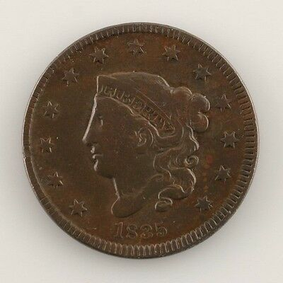 1835 Coronet Large Cent 1C (Very Good, VG Condition) Full, Bold LIBERTY