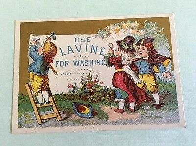 Victorian Trade Card Lavine for Washing Hartford Chemical Compy Hartford Conn