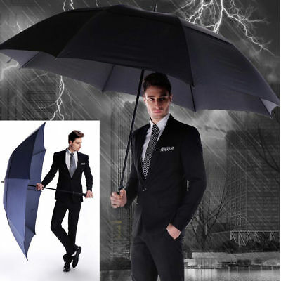Men's business umbrella double strong windproof large diameter outdoor long