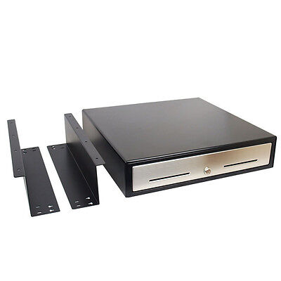 """Used Under Counter Automatic 18"""" POS Cash Drawer w/ Mounting Bracket Restaurant"""