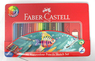 Faber-Castell Classic Colour Pencil Sketch Set Tin Pack of 48
