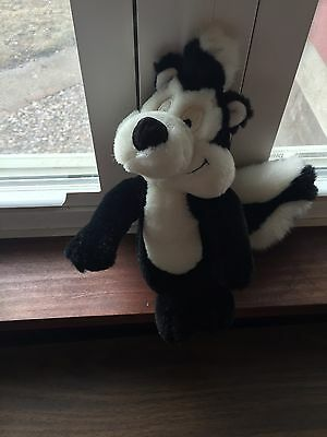 "1995 Warner Brother 10"" Pepe Le Pew Plush Stuffed Skunk Rare"