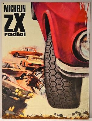 Vintage Michelin zX Radial Red Advertising Sign