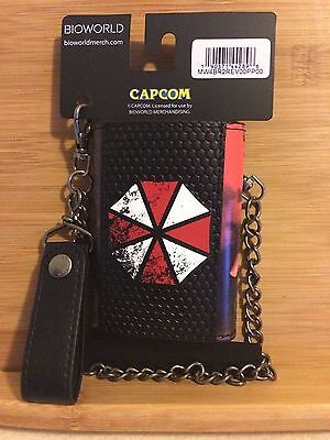 Resident Evil 20th Anniversary tri-fold chain wallet / NEW, official merchandise