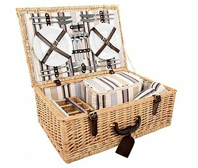 Greenfield Collection Beaulieu Willow Picnic Hamper for 4-People (G7o)