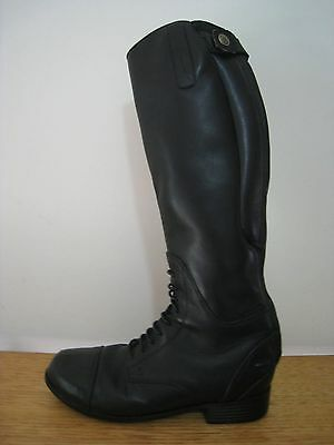 Ariat Bromont Leather Top Tall Long Riding Boots - Sz 34 Great Condition Rrp$325