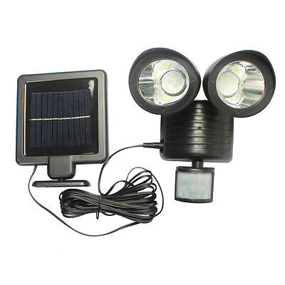 22 LED Solar Power PIR Motion Sensor Wall Lamp Outdoor Garden Waterproof Lights