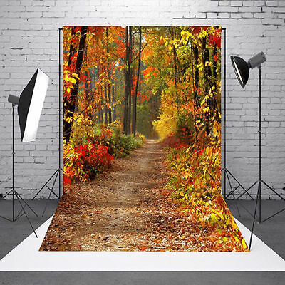 3x5FT Vinyl Photography Autumn Fall Forest Photo Studio Prop Background Backdrop