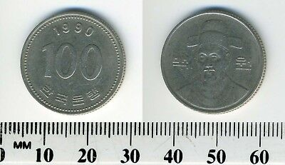South Korea 1990 - 100 Won Copper-Nickel Coin