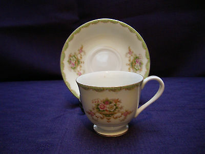 Made in Occupied Japan; Cherry China Cup & Saucer (70)