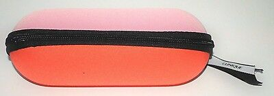 Clinique Makeup Bag / Eye Glasses Shell Case Pouch Pink Zippered Excellent !!