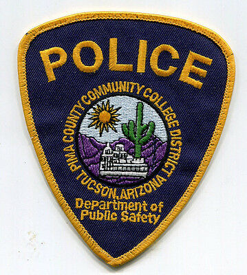 Pima County Community College District Police Patch - Tucson Arizona - Old Style