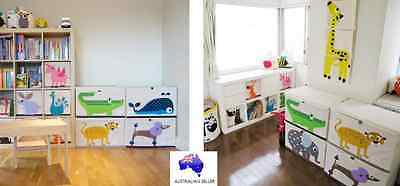 NEW 3 Sprouts Baby Kid Toy Organiser Storage Chest Box Animal (Leopard, Whale)