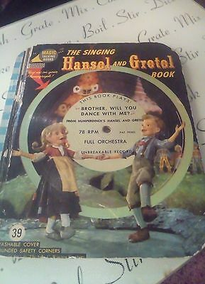 The Singing Hansel and Gretel Book. Illustrated with Actual Scenes vintage 1955