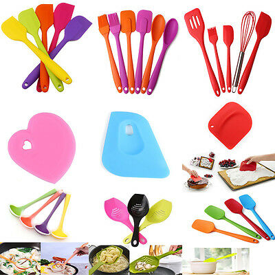 Kitchen Silicone Cake Cream Spoon Spatula Brush Baking Cooking Utensils Tools