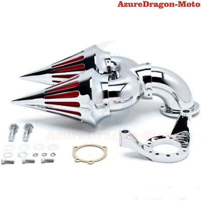 For Harley CV Delphi V-Twin Chrome Spike Cone Air Cleaner Intake Filter
