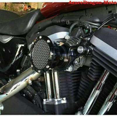 For Harley Sportster XL 883 1200 Big Twin Black Stack Air Cleaner Filter