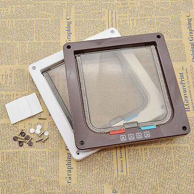 Pet Cat Small Dogs Locking Flap Door Kits with Telescopic Frame Controllable