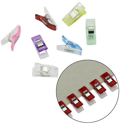 50/100Pcs Quilter Holding Wonder Clips for Crafts Sewing Knitting Crochet Nifty