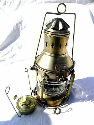 Nautical Full Circle Lantern ~ Ship Oil Lamp ~ Maritime ~ Boat Light