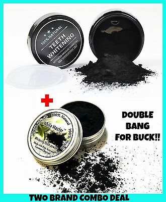 2 X Activated Charcoal Teeth Whitening Coconut Shell Powder Carbon Coco Bargain