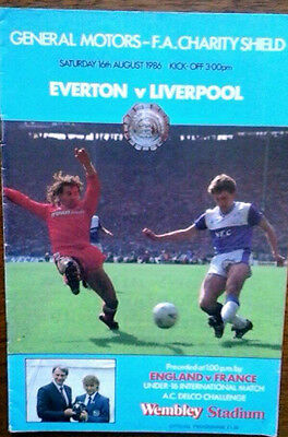 Everton V Liverpool 16/8/1986 Charity Shield