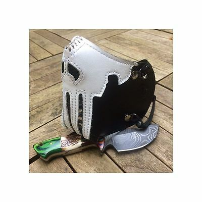 "Masque moto cuir ""killer bugs"" (The Punisher) Noir"