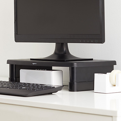 *BEST PC Monitor Stand Adjustable Desk Monitors Stands Laptop Console Mount NEW