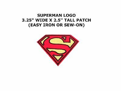 Superhero Super Hero Superman Man Logo Embroidery Iron On Patch Badge