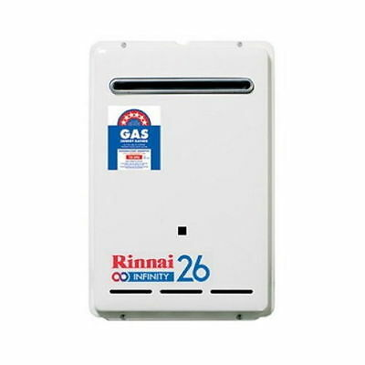 Rinnai INFINITY 26 Continuous Flow Hot Water System Nat Gas 50deg preset
