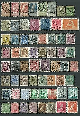 Small very mixed used collection of Belgium stamps.