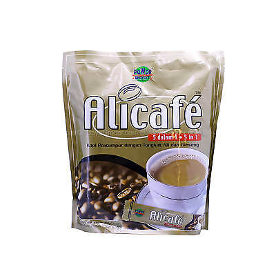 Power Root Ali Cafe Premix 5in1 Coffee with Tongkat Ali & Ginseng 20g x 20sticks